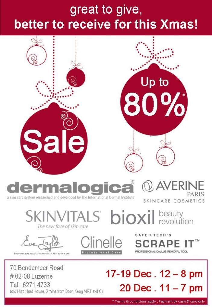 Dermalogica Sale, 17 Dec till 20 Dec 2008 Dermal10
