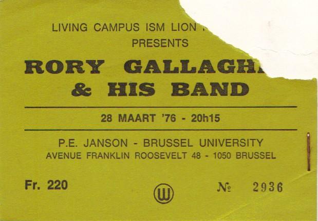 Tickets de concerts/Affiches/Programmes Rory_t11