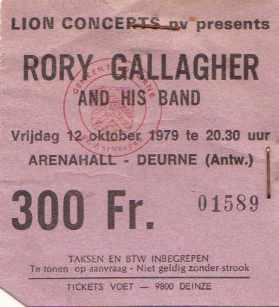 Tickets de concerts/Affiches/Programmes Rory_t14