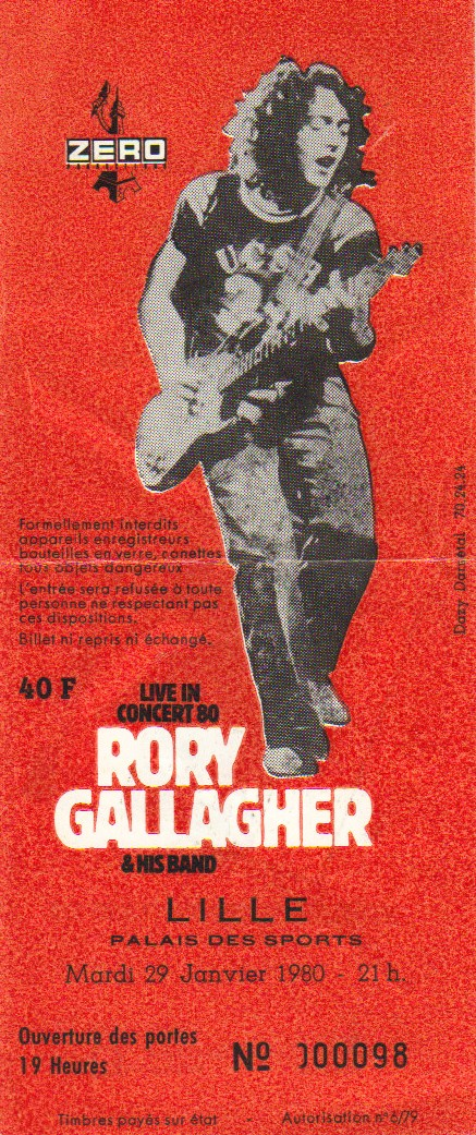 Tickets de concerts/Affiches/Programmes Rory_t15