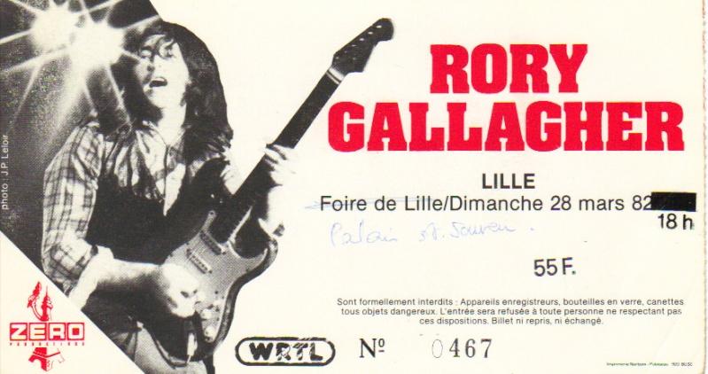 Tickets de concerts/Affiches/Programmes Rory_t16