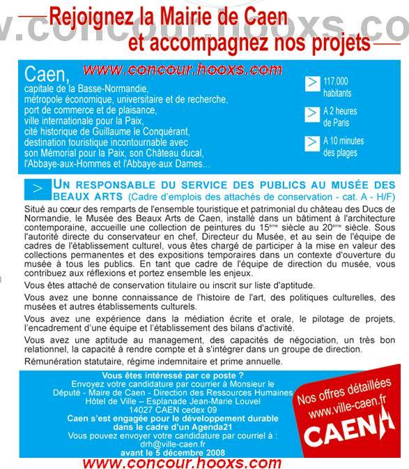 Responsable Musée des Beaux Arts (H/F) 0145