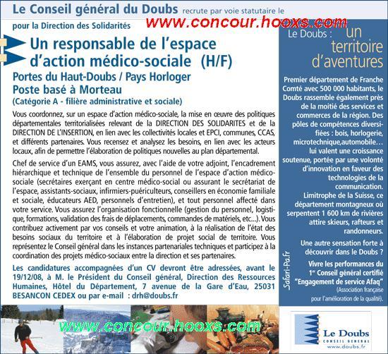 Responsable de l'action médico-sociale (H/F) 0149