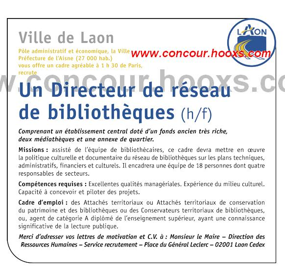 Directeur de Réseau de bibliothèques (H/F) 0151