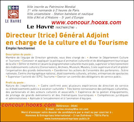 Directeur G.A. Culture et Tourisme (H/F) 0153