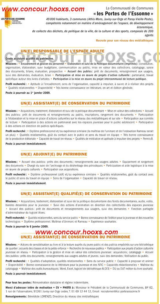 Assistant de conservation du patrimoine (H/F) 0160