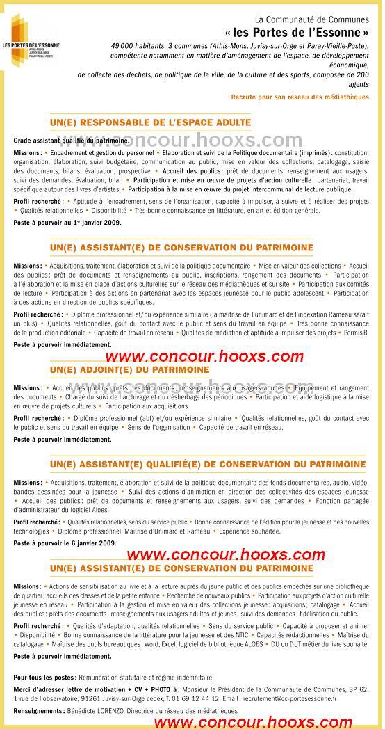 Assistant de conservation du patrimoine (H/F) 0167