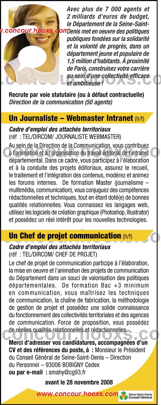 Journaliste - Webmaster intranet (H/F) 0231