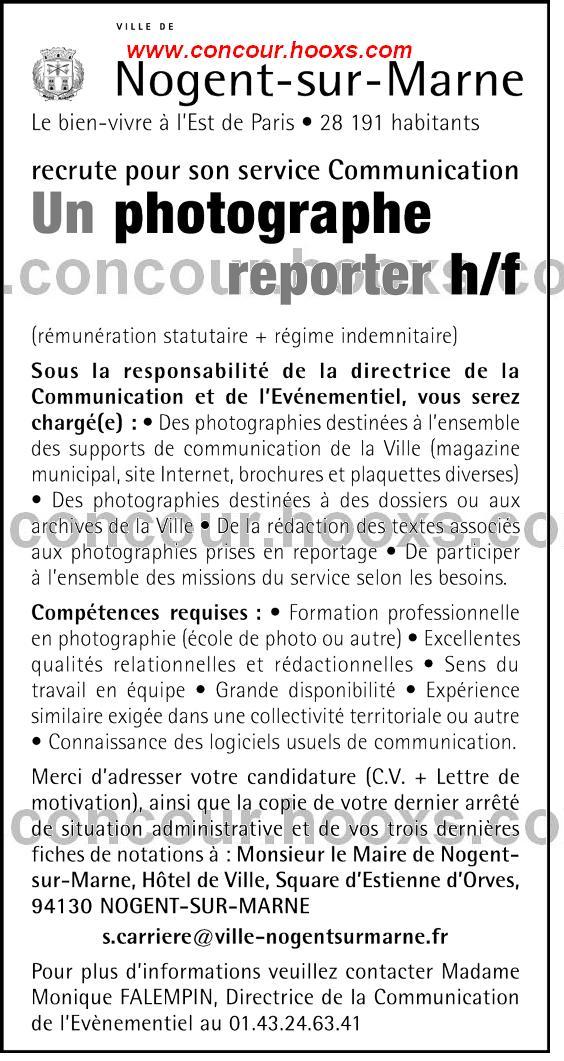 Photographe reporter (H/F) 0232