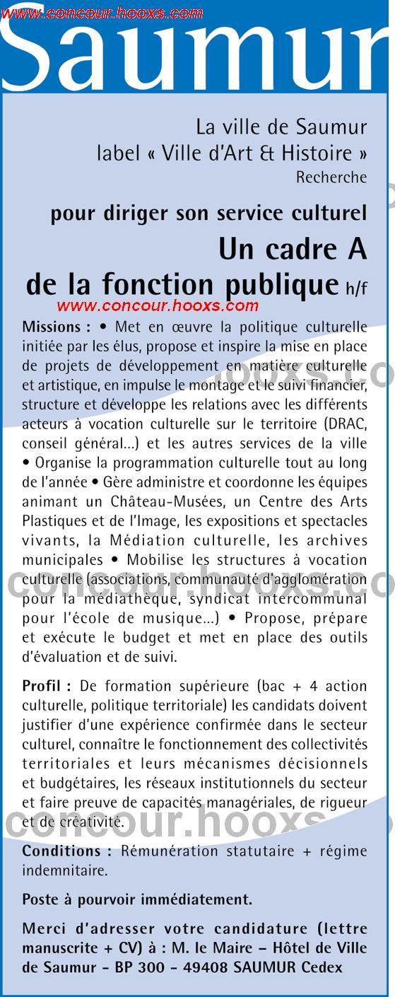 Directeur du service culturel (H/F) 0233