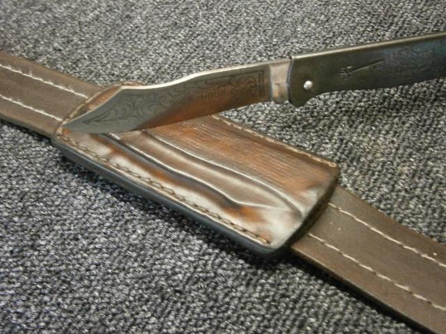 [fabrication] étuis en cuir pour outils ... P8200212