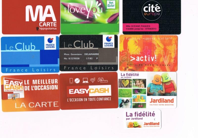 Divers cartes de fidélité Cartes11