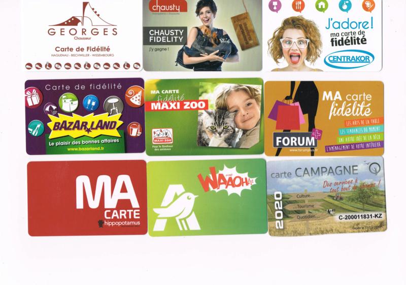 Divers cartes de fidélité Cartes20
