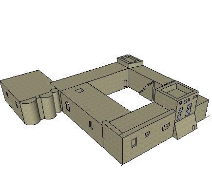 Un petit essai de modélisation du Castellas en 3D... Castel10