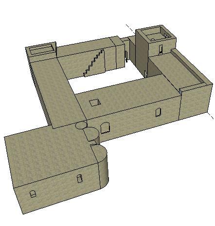 Un petit essai de modélisation du Castellas en 3D... Castel11
