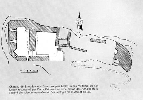 Château de Saint-Sauveur à Rocbaron Plan_s13