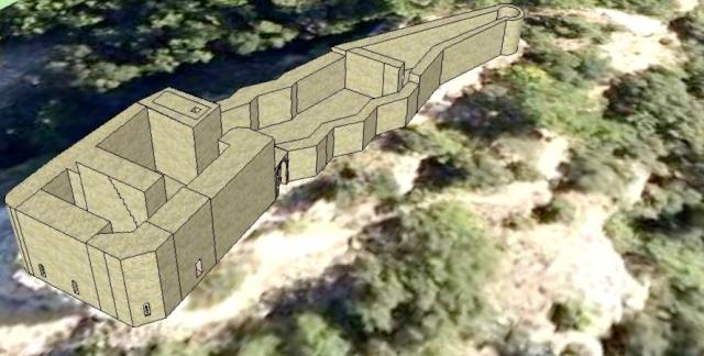 Un petit essai de modélisation du Castellas en 3D... St_sau10