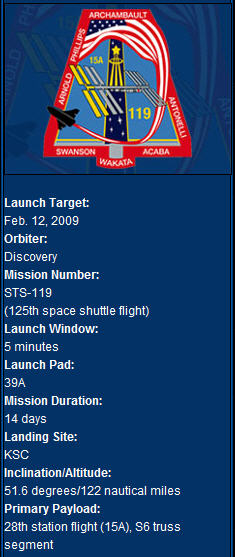 [STS-119] Discovery : préparatifs (lancement le 15/03/2009 au plus tôt) Infos10