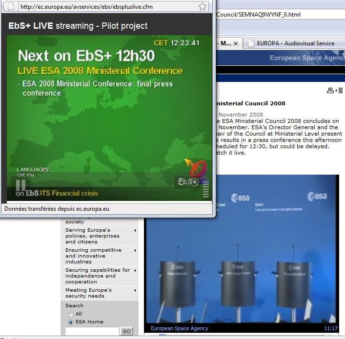 ESA : réunion ministérielle du 25 et 26 Novembre 2008 (La Haye, Pays-Bas) - Page 3 Instal10