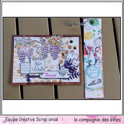 Carte automne vin et raisin 3/3  Sa12910