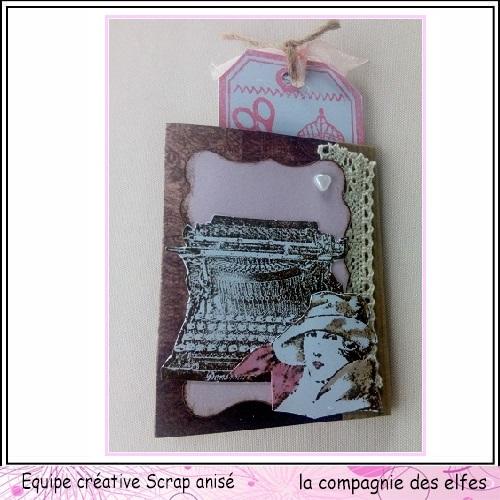 25 novembre Sabine carte avec chapeau ... Sa14210