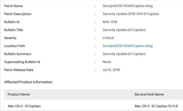 Actualización de Seguridad 2018-004 El Capitan Captur10