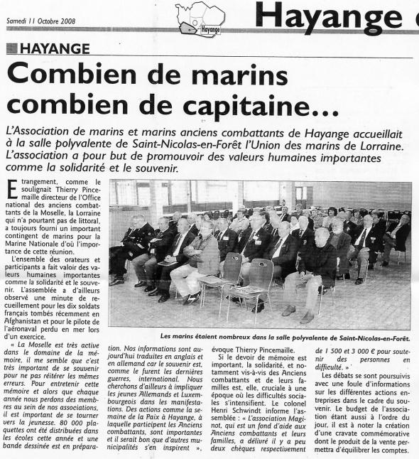 [ Associations anciens Marins ] UNION des MARINS de LORRAINE (U.M.L.) 810_ha11