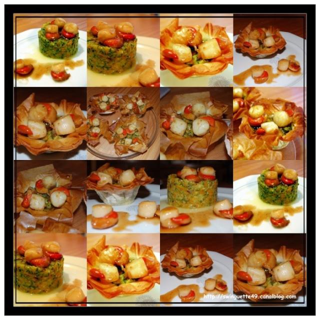 Corolle de Julienne de Légumes aux Noix de Saint Jacques et au Culimiel Safran Collag10