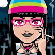 votre tête en manga Addams10