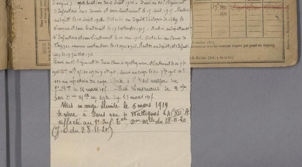 Un zouave tireur de première classe et premier prix de tir.  1510
