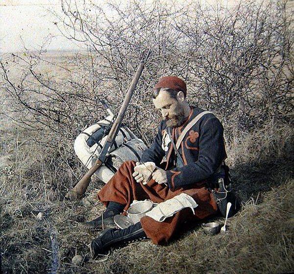 Un zouave tireur de première classe et premier prix de tir.  1710