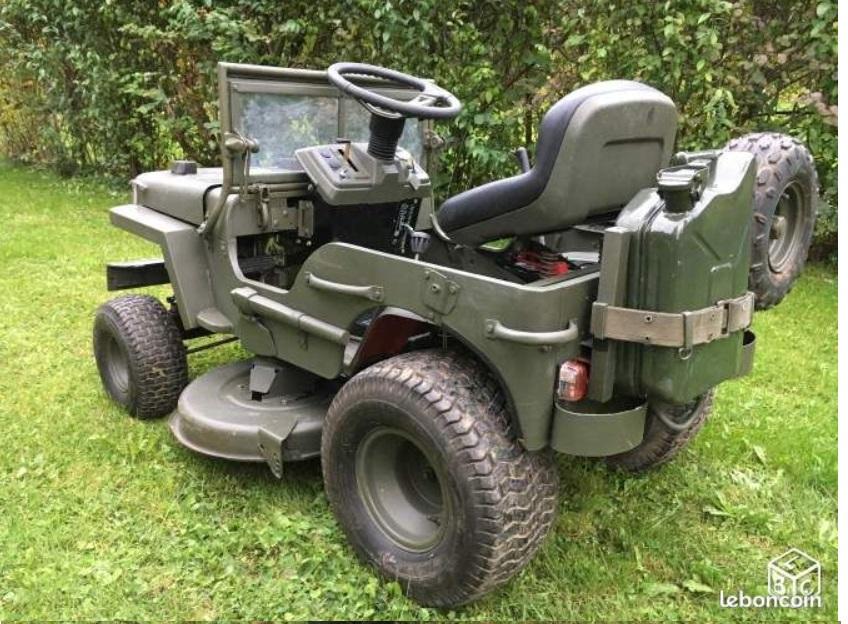 modification d'un tracteur tondeuse Tr210