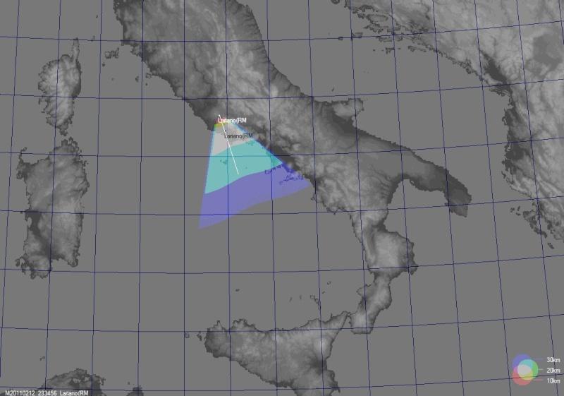 SUPERBOLIDE ripreso il 12 Febbraio 2011 - Lariano (RM) Gmap_b10