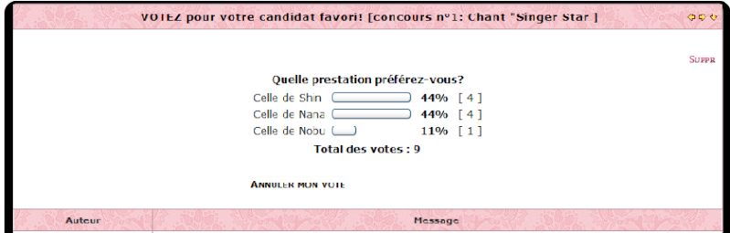 ♣ GAGNANT [Concours n°1 : Chant 'Singer Star'] Votes_10