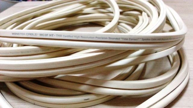 monster cable speaker cable used. Black Bedroom Furniture Sets. Home Design Ideas