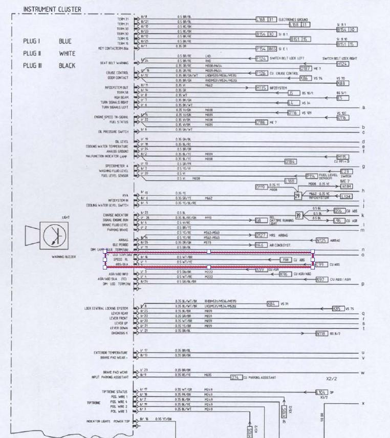 capteur compteur de vitesse et total kilometres Abs_1110