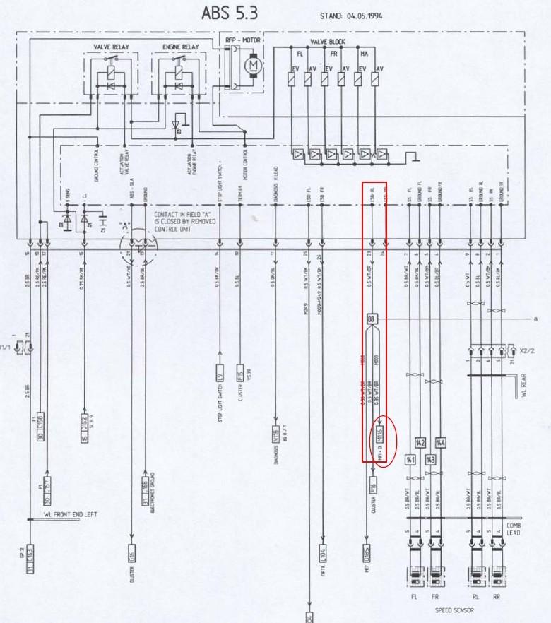 capteur compteur de vitesse et total kilometres Abs_1210