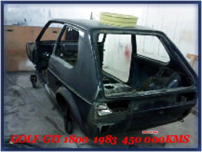 GOLF GTI MK1......450 000KMS BLEU HELLIOS EN COURS..... 2011-010