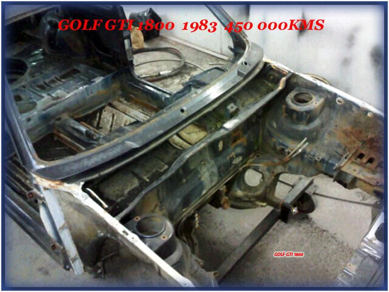 GOLF GTI MK1......450 000KMS BLEU HELLIOS EN COURS..... 2011-011