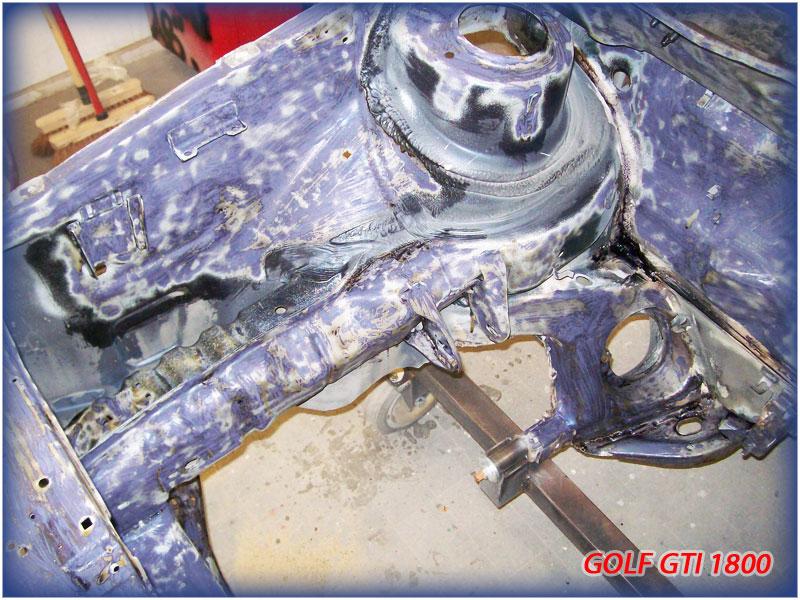 GOLF GTI MK1......450 000KMS BLEU HELLIOS EN COURS..... 2011-028