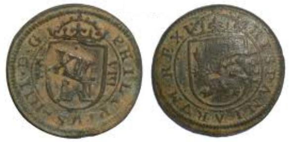 VIII maravedís del Ingenio de Segovia [intentemos reunir todas las fechas] Sin_ta13