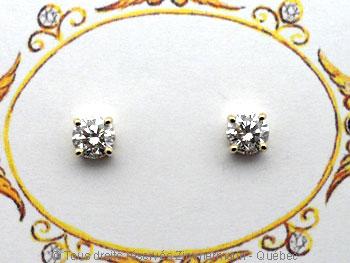 B.O. diamants 2 X 32/100 ct serti griffe...chaton maison..... Boob1410