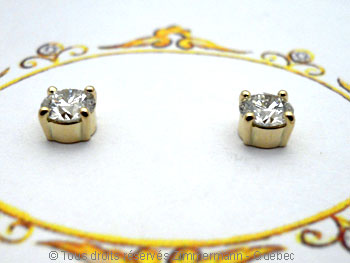 B.O. diamants 2 X 32/100 ct serti griffe...chaton maison..... Boob1411