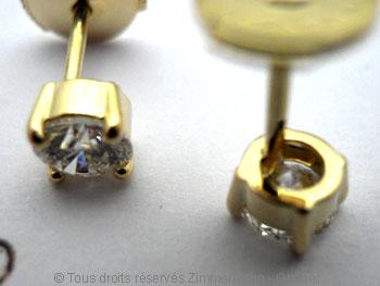 B.O. diamants 2 X 32/100 ct serti griffe...chaton maison..... Boob1412