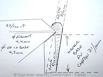 B.O. diamants 2 X 32/100 ct serti griffe...chaton maison..... Boob1413