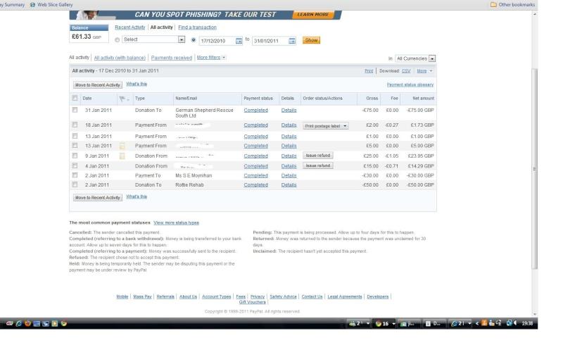 RAFA Paypal Account Paypal10