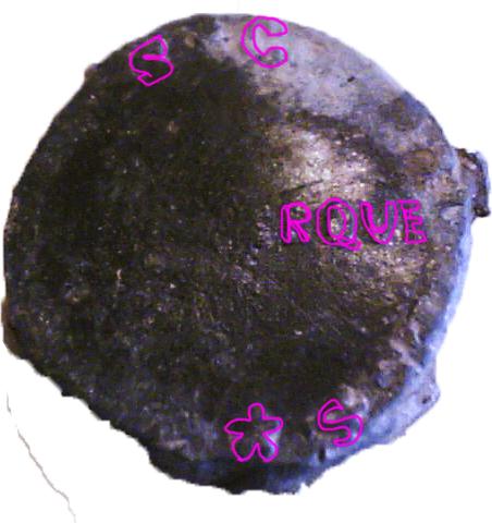 Plomb de scellé avec croix à ID Sans_t34