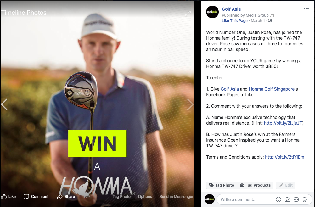 Golf Asia's WIN a Honma TW747 Driver Contest Screen11