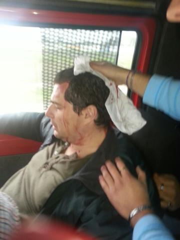 Atacaron la caravana de Sergio Massa en La Matanza y hay tres heridos 00216
