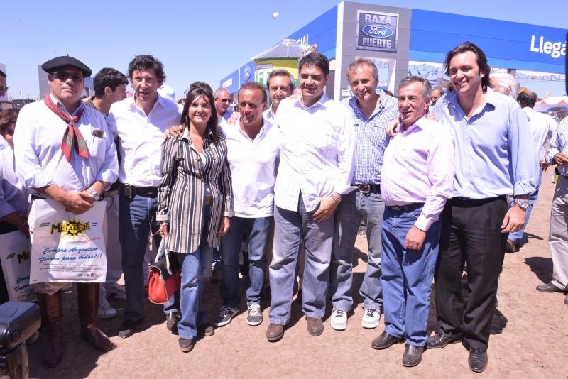 Cariglino, Macri, Posse y Del Sel en ExpoAgro 2013. Carigl10